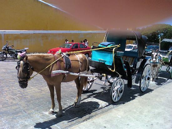 Izamal, Mexique : una pintorezca carroza