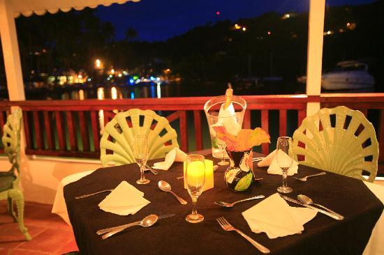 Marigot Beach Club and Dive Resort : Fine Dinning