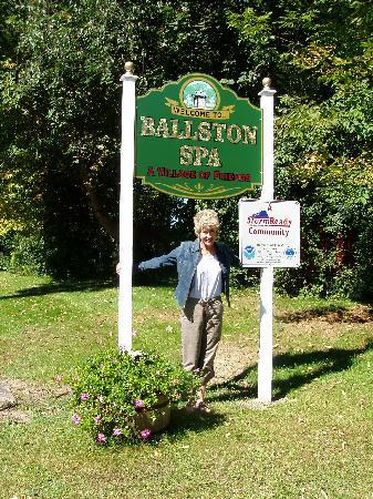 Saratoga Springs, NY: ME AND MY SLOGAN FOR BALLSTON SPA