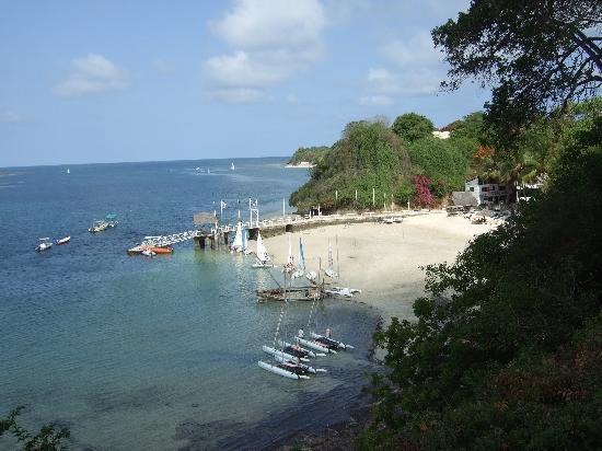 Mnarani Hotel: View of beach from main resort grounds
