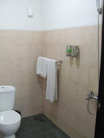 Legian Guest House Bali: Shower/toilet area