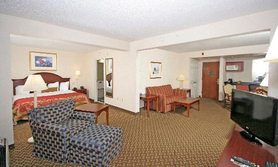 Wingate by Wyndham Columbia/Harbison: King Suite offers a microwave, refrigerator, & flat screen TV.