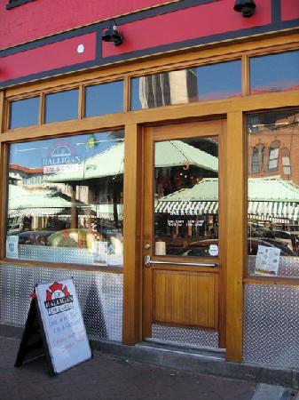 The Halligan Bar and Grill: Entrance of The Halligan Bar!
