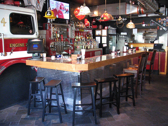 The Halligan Bar and Grill: Full bar, complete with firetruck!