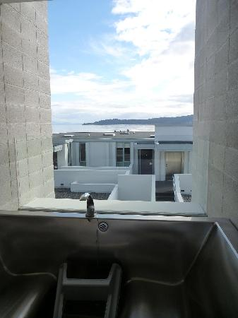 Sacred Waters Taupo Luxury Apartments : Hot Tub View
