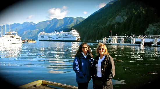 BC Ferries: Shelley and my Mom - we're heading out from Horseshoe Bay West Vancouver
