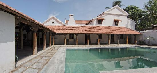 Neemrana's Gate House: cooling pool to relax and unwind !!