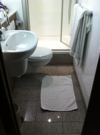 Hilton Brussels City: Smallest Bathroom Ever
