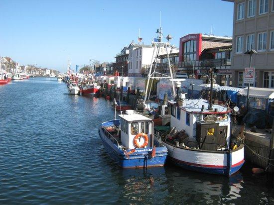 Rostock, Alemania: Der Fischmarkt, direkt gegenüber dem Hotel am Alten Strom.