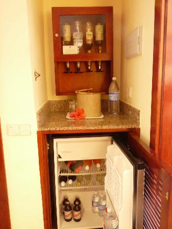 Hotel Riu Negril: Mini Bar In The Bedroom