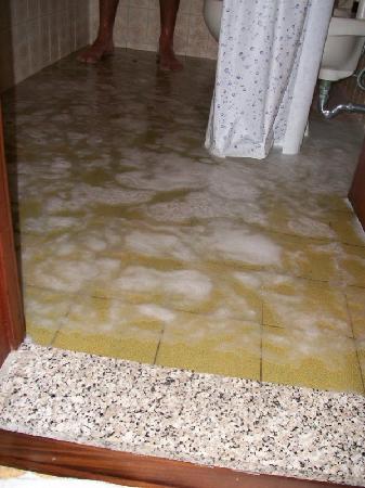 Alla Pergola: Bagno allagato durante la doccia