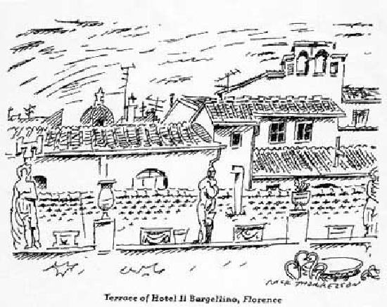 Hotel Il Bargellino: Terrace Sketch