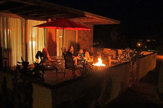 Boynton's - Hacienda del Sol: Enjoy a family outdoor fire