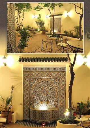 the garden in riad jardin chrifa