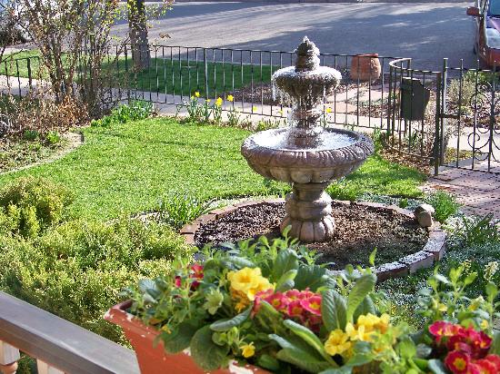 Best Kept Secret B & B: April - Frosty Morning Fountain