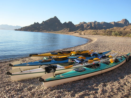 Loreto, Mexico: Our kayaks sitting on the beach