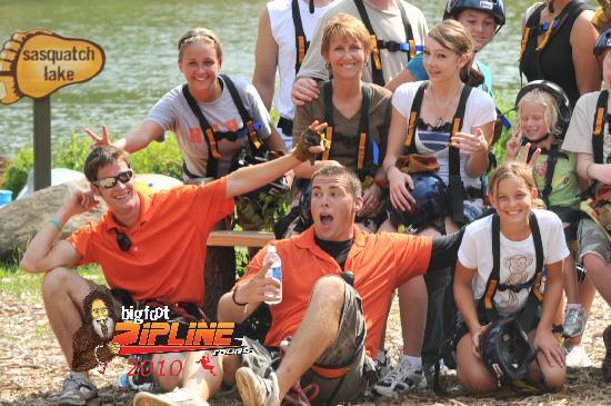Bigfoot Zipline: Bigfoot Island Group Pic