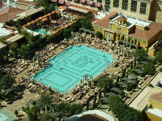 Swimming Pool Seen From Floor 28 Picture Of The Venetian Las Vegas Las Vegas Tripadvisor