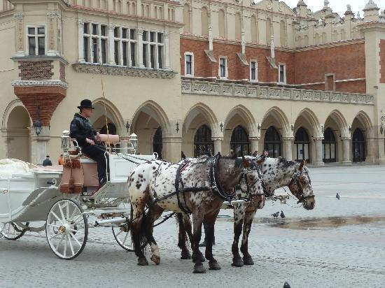 Krakow, Polen: Affordable transportation on Market Square