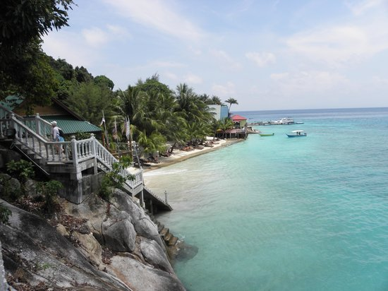 Pulau Perhentian Besar, Malaysia: View of resort from Cozy Challets