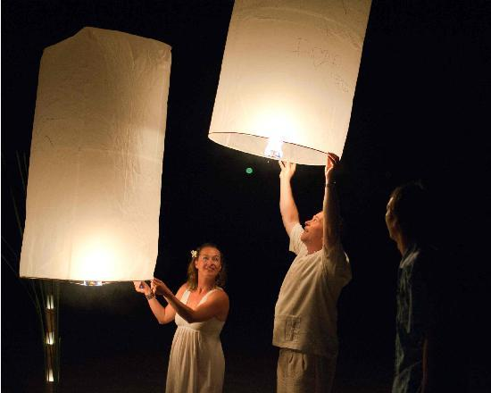 The Sarojin: Launching a paper hot air balloon