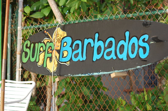 Barry's Surf Barbados Surf School : Just follow that sign!
