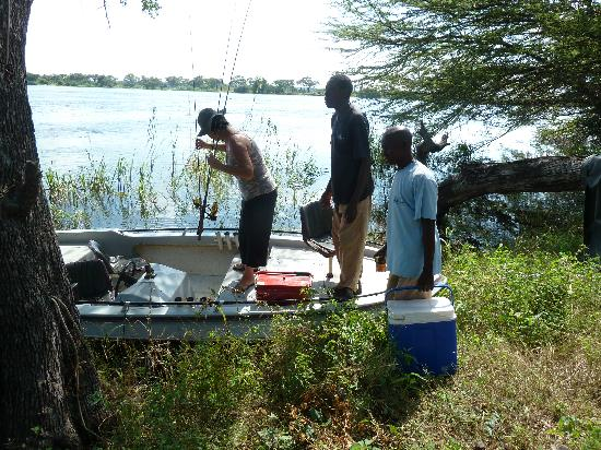 Imbabala Zambezi Safari Lodge: Allset for fishing