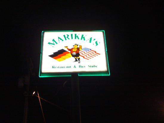 Marikka's: Street Sign for Marikka