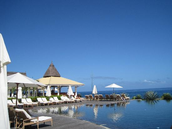 "Club Med La Plantation d'Albion: the zen swimming pool and ""Le Phare"" restaurant"