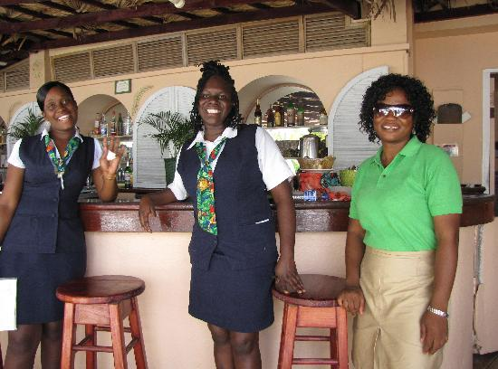Coco Reef Resort & Spa Tobago: Melissa (middle), and friends
