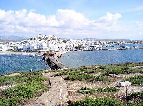 Cidade de Naxos, Grécia: Blick von der Portara auf Naxos Stadt