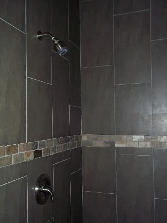 Belamere Suites: our gigantic stone shower for two