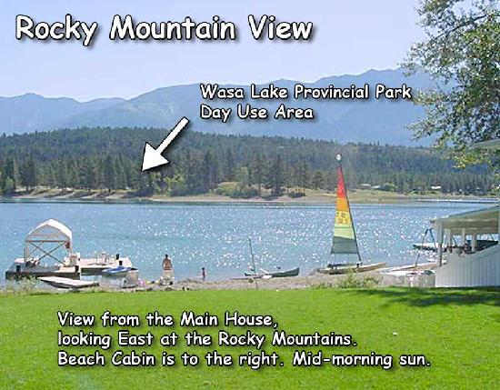 Wasa Lakeside B&B Resort: East View of Property and Lake