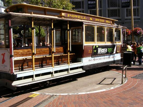 The Powell Hyde Cable Car Leaves From The Heart Of Union Square