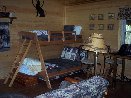 Rim Rock's Dogwood Cabins: Inside of Cougar's Bluff