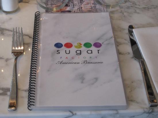 The Sugar Factory: menu