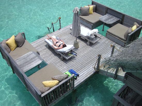 Gili Lankanfushi Maldives: Villa 35 sundeck