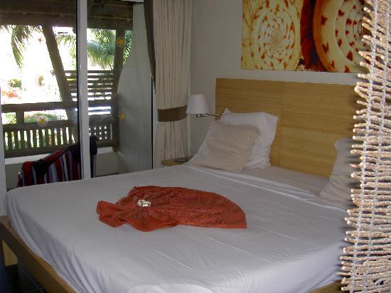 Anse La Raie: notre chambre vue mer et piscine