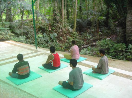 Jiwa Damai Organic Garden & Retreat: Meditation class at Jiwa Damai