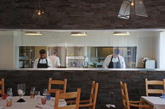 La cucina a vista - Picture of Madai Ristorante, Arzachena ...