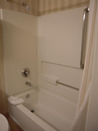 Comfort Suites Summit County: Nice touch with curved shower curtain rod