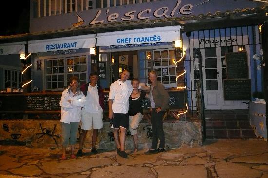 Avec Sylvia et Francis devant L'Escale