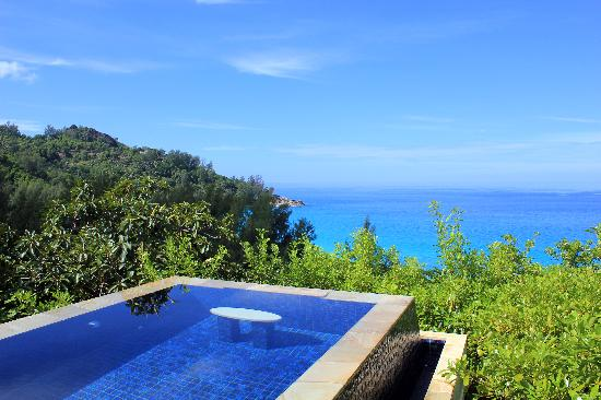 Banyan Tree Seychelles: Vue Hillside Pool Villa 507 - Avril 2011