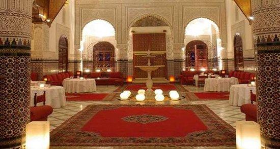 Palais Gharnata : La salle jet d'eau