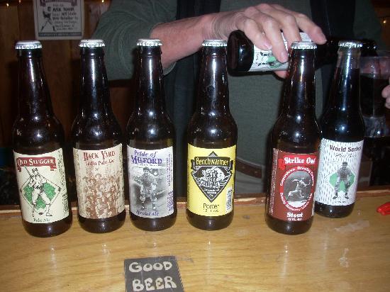 Cooperstown Brewing Company: The six different samples were poured one at a time.