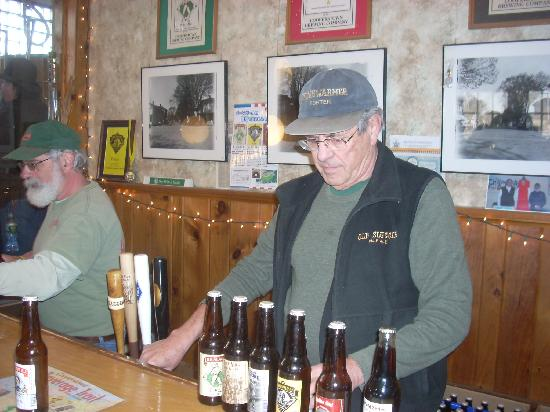 Cooperstown Brewing Company: The tasting room staff pours for all 35 guests.