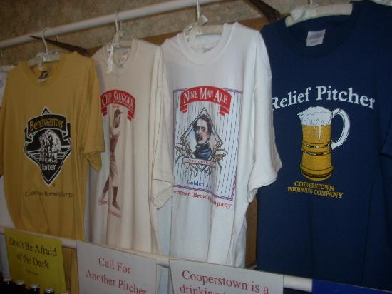 Cooperstown Brewing Company: The t-shirts have interesting slogans front and back.