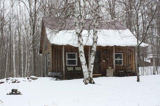 Penokee Mountain Inn: The little cabin in the snow