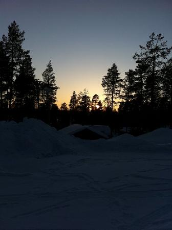 Hotel Jeris: The sun sets over Jerisjarvi