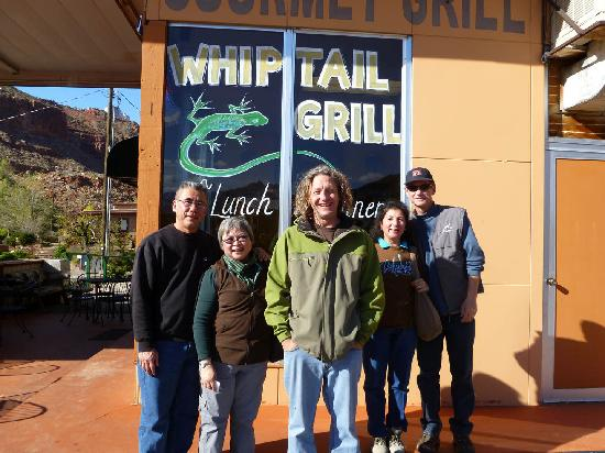 Whiptail Grill: travelers and John